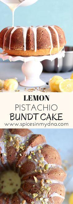 Lemon Pistachio Bundt Cake