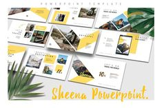 SHEENA Powerpoint Template by Maspiko by Letterhend on Best Presentation Templates, Presentation Design Template, Good Presentation, Design Templates, Art Template, Site Website, Creative Pictures, Business Illustration, Business Card Logo