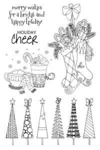 *Impression Obsession Clear Stamps HOLIDAY CHEER cl294