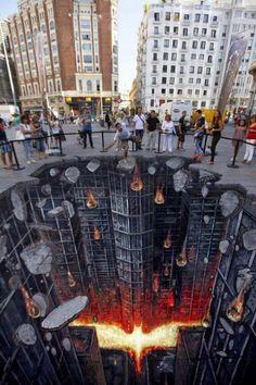 Es muy común ver grafitis en las calles de las ciudades, incluso varios son considerados una verdadera obra de arte, sin embargo te mostraré los más originales hechos en 3D. ¡Definitivamente son impresionantes! ¿Apoco no son impresionantes? ¡Incluso algunos parecen reales!