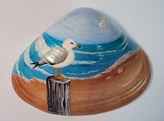 Painted Clam Shells – RiverRockArt – Jen Viklen - Touching and Emotional Image Seashell Painting, Seashell Art, Seashell Crafts, Stone Painting, Painting On Shells, Sea Crafts, Rock Crafts, Nature Crafts, Baby Crafts