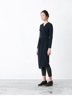 Blue / Gray irregular knitwear knitted wool  dress by BonLife