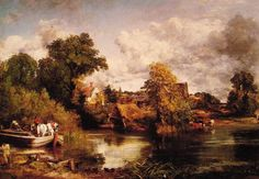 john constable paintings   John Constable Paintings - John Constable The White Horse Painting