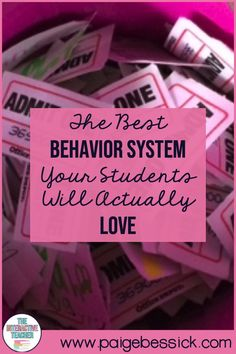 The Best Behavior System Your Students Will Actually Love! Need an easy behavior system for your students and classroom? This could work for younger or older students and they will actually by in.  Perfect for your kindergarten, first grade or second grade classroom, reward your students for their positive behavior.  It's cheap and easy! You have to check this out! #behaviorsystem #positivebehavior #PBIS #classroombehavior