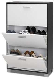 Beautiful Black And White Shoe Organizer   Contemporary   Clothes And Shoes  Organizers   Other Metro