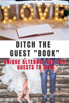 Who says a wedding guest book has to be an actual book!  Wedding guest book alternatives are a creative way to  honor the tradition remembering your guests and capturing their advice.  Guest can sign on the canvas and you get a lovely keepsake for your home.  Don't forget the guest book in your wedding planning! Pin this now! #weddingguestbookalternative #weddingideas #guestsignin #guestbookcanvas #alternativeguestbooksign