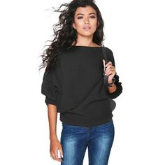 Casual Women Long Sleeve Knitted Round neck Pullover Sweaters Loose Jumper Tops Leisure Knitwear Sweaters Outwear