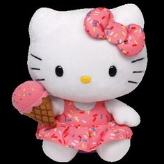 Hello Kitty Ice Cream Beanie Baby from store.ty.com