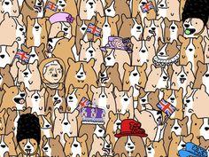 Найдите Королеву Елизавету II среди всех этих псов!