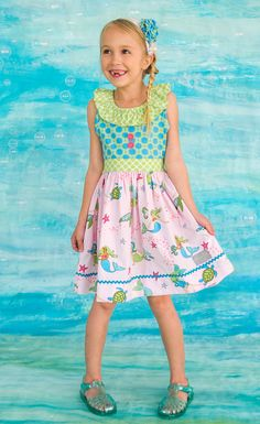 13ef5a615382 A magical dress for your little Princess of the Sea!