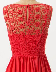 Crochet Sweet Enticement Dress -  Anthropologie