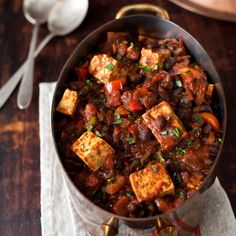 Spicy chili seasonings work wonders for the bland flavor of tofu. For a more substantial, spicy chili, use the same weight of tempeh in place of the t...