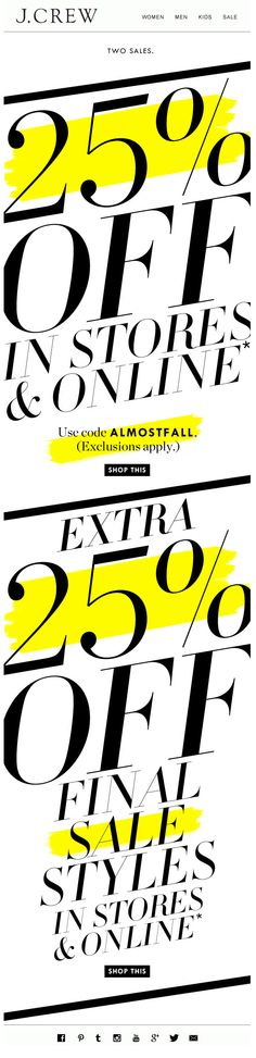 J.CREW : All Text Event