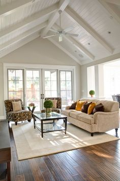 cathedral ceiling living room with white ceiling fan .- cathedral ceiling living room with white ceiling fan … sarah lannon sarahwritesallthethings Fix my house. cathedral ceiling living room with white ceiling fan Traditional Family Rooms, Traditional Design, Traditional Bedroom, Design Living Room, Small Living Room Furniture, Kid Furniture, Furniture Stores, Rustic Furniture, Furniture Makeover