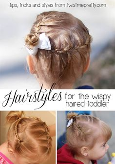 Struggling with your toddlers crazy hair?  Let me teach you some tips, tricks and practical styles that'll make it look like you spent hours on your little one! | Twist Me Pretty