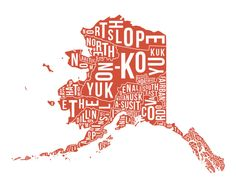 Alaska State County or Boroughs Map - Poster Print - Wall Art - Gift. $35.00, via Etsy.