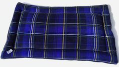 Royal Blue Plaid Dog Bed, Large Pet Bed, Dog Crate Mats, Dog Kennel Bedding, Blue Plaid Fabric, Dog Bed, Extra Large Dog Pad, XL Kennel Mat #ExtraLargeDogBeds #LargePetBed #PetBed #XlKennelMat #DogBed #DogCratePad #LargeCratePad #DogCrateMat #30x48DogCrates #FleecePetCushion