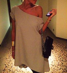 Love the off the shoulder look