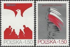 POLAND 1979 2348-9 POLISH PEOPLE REPUBLIC 35 ANNIVERSARY MINT A
