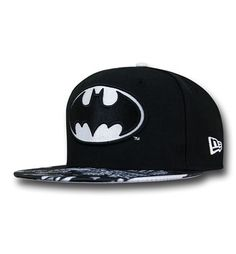 The polyester Batman Tonal Glow Cap is made by New Era and features the  symbol for DC Comics  Dark Knight! 783b28342a7