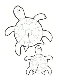 Easy to use three-dimensional paper with a simple method . Animal Crafts For Kids, Art For Kids, Turtle Crafts, Paper Art, Paper Crafts, Kindergarten Art Projects, Printable Crafts, Printable Paper, Art N Craft