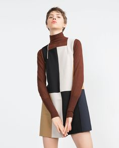 COLOR BLOCK DRESS - View all - Dresses - WOMAN   ZARA United States