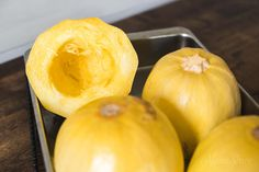 Easy step by step pictures and instructions on how to cut a spaghetti squash. Cooking instructions for how to cook spaghetti squash in the oven or Instant Pot. High Protein Recipes, Healthy Recipes, Keto Recipes, Dairy Free Low Carb, Gluten Free, Healthy Cooking, Cooking Recipes, Cooking Spaghetti Squash, Lean And Green Meals