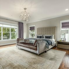 Owner's retreat with hardwood flooring, elegant chandelier, neutral paint, and two walk-in closets Listed in Vienna, Virginia for $1.399M by The Casey Samson Team is a Wall Street Journal Top Team in Northern Virginia.