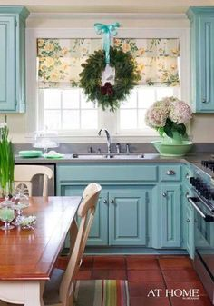 Love the fun colors... not sure if it would work with my kitchen though