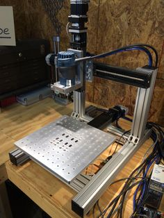 The KR33 mini CNC is ready to make chips.