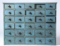 Antique Apothecary Chests - perfect for craft storage!  Where do you get these damn things??