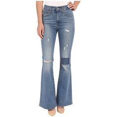 Levi's Womens High Rise Flare (Lighthouse Blues) Women's Jeans