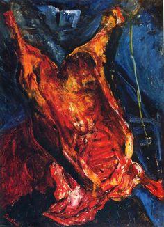 Хаим Соломонович Сутин. Бычья туша 3    Бычья туша 1924, 107.6×140.3 см