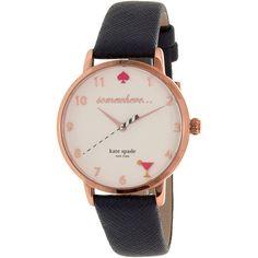 Kate Spade Women's Metro KSW1040 Rose Gold Leather Quartz Watch for Sale