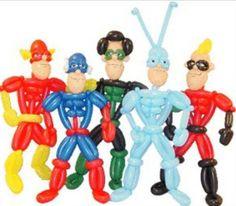 Superhéroes con globos