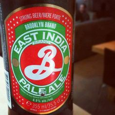 Brooklyn East India Pale Ale.   Ever since I took a trip to their brewery last year, I've had a soft spot for Brooklyn Brewery. They're a great example of the little craft brewer that could, growing from a tiny operation in one of the, then, most dangerous parts of Brooklyn to become somewhat of an almost-mainstream staple, all the while continuing to churn out awesome beer. So I was suitably chuffed when I saw this drop on the shelf at a bottle-o in Canberra. Inspired by the original East…