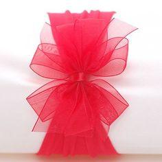 Glitter Headband Bow Red