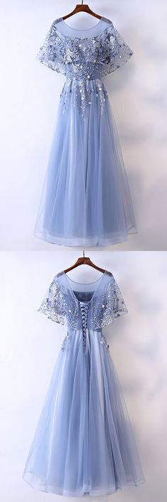 Only $118, Prom Dresses Different Blue Cap Sleeve Long Party Dress For Formal #MYX18136 at #GemGrace. View more special Bridal Party Dresses,Prom Dresses now? GemGrace is a solution for those who want to buy delicate gowns with affordable prices, a solution for those who have unique ideas about their gowns. 2018 new arrivals, shop now to get $10 off!