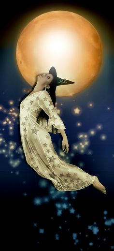 Magick Wicca Witch Witchcraft:  Flying Witch.