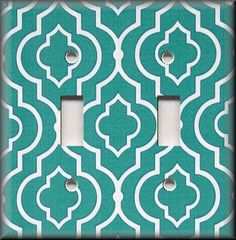 Switch Plates And Outlet Covers - Clover Star - Turquoise - Geometric Home Decor
