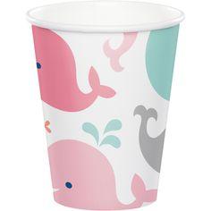 (96/case) Lil' Spout Pink Hot/Cold Cups, 9 Oz.