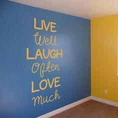 Adesivo Murale Live Well Laugh Often | Stickers Murali