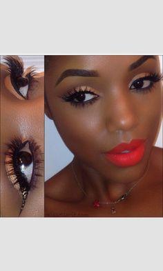 Makeup- bright lips- gorgeous eyes