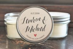 Set of 12  4 oz Kraft Wedding Favor//Candle by TheDancingWick