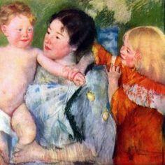 Mary Cassatt - After bath