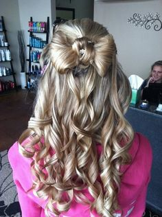 My hair for homecoming