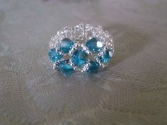 Beaded Ring  Beaded Crystal ring by VictorianPunkJewelry on Etsy, $8.00