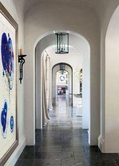 Modern Staircase/Hallway by Joan Behnke & Associates Inc. and Landry Design Group Inc. in Los Angeles, California