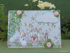 Cards ,Crafts ,Kids Projects: Pom Pom Bunny Card