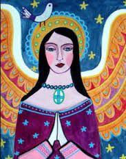 angel folk art - Google Search